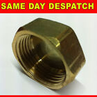 "BSP THREAD BRASS THREADED BLANKING CAP FEMALE IRON FITTING VARIOUS SIZES 1/4""-1"""