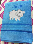 Quality-Embroidered-PERSONALISED Bath Towel-Terry-Cotton-Little Pig-Pigglet-Gift