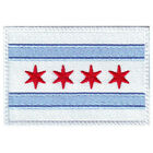 CHICAGO FLAG EMBROIDERED PATCH