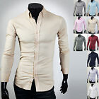 Mens New Fashion Luxury Long Sleeve Business Casual Dress Shirts Formal Top W857