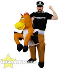 INFLATABLE HORSE COSTUME WITH POLICE VEST AND HAT FANCY DRESS POLICE HORSE STAG