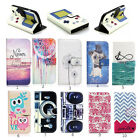 Luxury Painting Leather Folio Wallet Case Pouch For Various Mobile phones 43 D