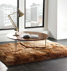 SMALL - LARGE SOFT CHUNKY THICK LONG SHAGGY CARAMEL GOLD PEARL RUG