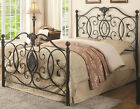 NEW MAYFARE TRADITIONAL STYLE BLACK BRUSHED GOLD FULL QUEEN or KING IRON BED
