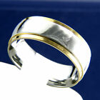 Two Tone Stainless Steel Engagement Wedding Mens Bridal Band Ring
