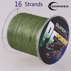 16 Strands 100M-2000M 20-300LB Army Green Hollow pe Dyneema Braided Fishing Line