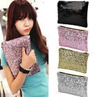 Women's  Sparkle Spangle Clutch Bag Party Handbag Bling Purse Big Sale