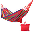 Yodo Single Cotton Camping Hammock 98x31 Swing Portable Folding Outdoor Bag NEW