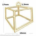 24K Gold Plated Sterling Silver 17mm Hexagon Charm Pendant PK1 PK5