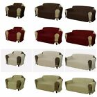 Quilted Micro Suede Dog Pet Furniture Protector w/Ties Couch Sofa Loveseat Chair