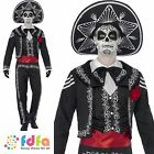 DAY OF THE DEAD SENOR BONES MEXICAN - 38-44 chest - mens fancy dress costume