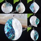 Fashion Jewelry Double Color New Zealand Abalone Shell Bead Pendant Charm SBN221