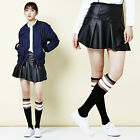 """""""2NEFIT"""" Korea Women's Clothes SK-003 Frilly Punching Leather Skirt Size S M"""