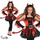 Girls Teen Daredevil Red Devil Halloween Tween Fancy Dress Costume Tutu Outfit