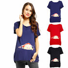 Funny Maternity Pregnancy T-shirt Tee Top Tunic Peek a boo Baby Peeking Baby