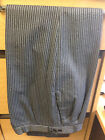 MENS / BOYS GREY & BLACK PIN STRIPE TROUSERS FOR TAILS, WEDDING/MORNING