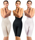 Seamless Open-Bust Mid-Thigh Bodysuit Firm Control Shapewear Thigh Slimmer