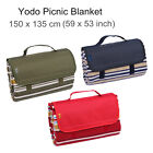 Yodo Picnic Blanket Tote 59x53 Soft Camping Outdoor Beach Mat Patio Rug Festival
