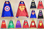 Boys & Girls Superhero Cape costumes Birthday Party Fancy dressing up