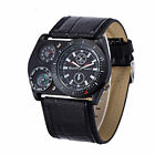 New Oulm 4094 Men's Military Army Gift Sports Leather Band Quartz Wrist Watch