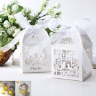 Laser Cut Floral Bird Cage Party Wedding Favor Gift Boxes W Ribbon Candle Holder