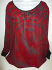 Old Navy womens Patterned crepe top blouse XXLarge NEW red black