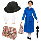 ADULTS MAGICAL NANNY CHARACTER WOMENS FANCY DRESS COSTUME TV FILM BOOK VICTORIAN