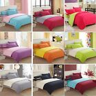 Solid Bedding Pillowcase Quilt Duvet Cover Set Or Flat Sheet Single Double King