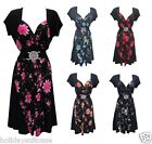 NEW WOMANS LADIES EVENING PARTY SUMMER HOLIDAY PANEL CONTRAST DRESS SIZE 12-26