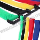 Reusable Coloured Hook Loop Strap Straps Cable Ties Packs Of 10 Organise
