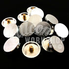 MIRROR SCREW DECORATIVE DISCS - BRUSHED SATIN CHROME FINISH FLAT TOP 5ba