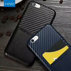 Luxury Thin Card Carbon Fibre Leather Back Case Cover For Iphone 6 Plus 6S