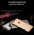 Electroplated Aluminum Inlaid Diamond Protect frame Case For Iphone 5 /5S/6/SE