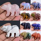 50-53mm Carved gemstone bear pendant focal bead *Each one pictured*