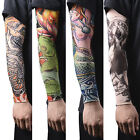 1~16pcs Nylon Fake Temporary Tattoo Sleeves Tatoo Arm Stockings For Men Women tk