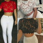 Fashion Women Sexy Hollow Out See-Through Crochet Lace Tank Tops Crop Tops Hot