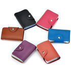 Genuine Cowhide Leather Woman Lady ID Credit Card Case Holder Pocket Bag Wallet