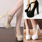 Princess Lace Hollow High Heels Party Queen With Platform Block Wedding Shoes