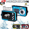 720P HD 16x Zoom 24MP Waterproof Video Camcorder DV Digital Camera Double Screen