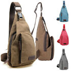 Mens Canvas Sling Messenger Satchel Shoulder Bag Travel Bag Sports Backpack  MO
