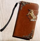 Unicorn Leather phone wallet flip case Stand cover For Samsung S6 S7 Edge Note 5