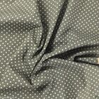 SLATE GREY colour POLKA DOT 100% cotton fabric  per FQ, half metre or metre