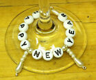 HAPPY NEW YEAR-Champagne Flute-Glass Wine-Place marker-Decoration-Charm 1 or 6