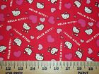 HELLO KITTY #10  FABRICS Sold INDIVIDUALLY NOT AS A GROUP By the HALF YARD