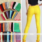 Women Stretch Elastic Pencil Pants Casual Slim Skinny Jeans Trousers Candy Color