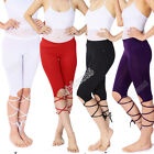 Belly Dance Yoga Ballet Stylish Capri Pants Bandage Practice Shorts 5 Colors
