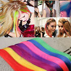 2pcs Straight Women Clip-in Hair Extensions Piece Fashion Multi Color Synthetic