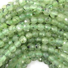 "Faceted Prehnite Round Beads Gemstone 15.5"" Strand 4mm 6mm 8mm 10mm 12mm"
