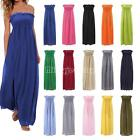 New Womens Boob Tube Stretch Bodycon Short Sleeveless Top Ladies Long Dress