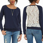 Sexy Women Blouse Long Sleeve Lace Back Ladies Casual Shirt Loose Tops T Shirt